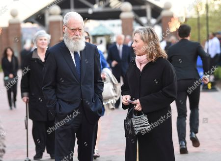 Stock Image of David Letterman, Regina Lasko. Talk show host David Letterman, left, and wife Regina Lasko attend the Statue of Liberty Museum opening celebration at Battery Park, in New York