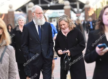 David Letterman, Regina Lasko. Talk show host David Letterman, left, and wife Regina Lasko attend the Statue of Liberty Museum opening celebration at Battery Park, in New York