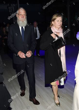 David Letterman, Regina Lasko. Talk show host David Letterman, left, and his wife Regina Lasko attend the Statue of Liberty Museum opening celebration at Battery Park, in New York