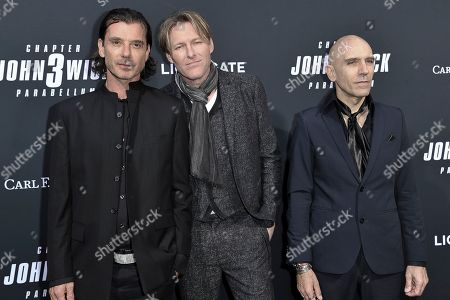 "Stock Photo of Gavin Rossdale, Tyler Bates and Luca Mosca. Gavin Rossdale, from left, Tyler Bates and Luca Mosca attend a special screening of ""John Wick: Chapter 3 - Parabellum"" at the TCL Chinese Theatre, in Los Angeles"