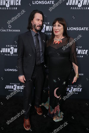 Stock Picture of Keanu Reeves, Anjelica Huston