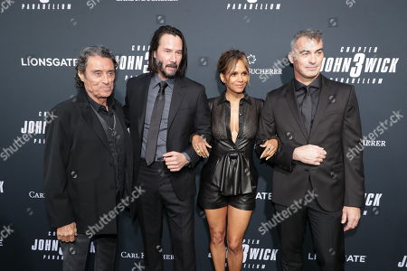 Ian McShane, Keanu Reeves, Halle Berry, Chad Stahelski, Director/Executive Producer,