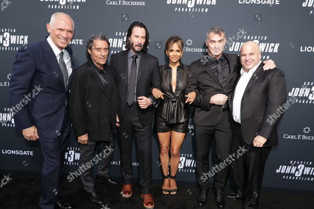 Joe Drake, Co-Chair, Lionsgate Motion Picture Group, Ian McShane, Keanu Reeves, Halle Berry, Chad Stahelski, Director/Executive Producer, Nathan Kahane, President of Motion Pictures, Lionsgate,