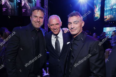 Stock Image of Basil Iwanyk, Producer, Joe Drake, Co-Chair, Lionsgate Motion Picture Group, Chad Stahelski, Director/Executive Producer,