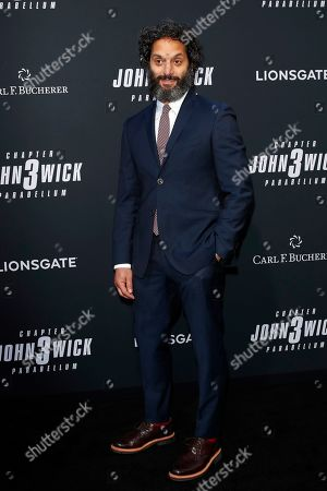 Jason Mantzoukas arrivies for the premiere of Lionsgate's John Wick: Chapter 3 - Parabellum at the TCL Chinese Theatre IMAX in Hollywood, Los Angeles, California, USA, 15 May 2019. The movie opens in the US on 17 May 2019.