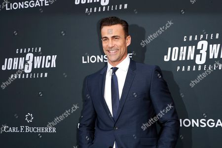 Swiss actor and martial artist Daniel Bernhardt arrivies for the premiere of Lionsgate's John Wick: Chapter 3 - Parabellum at the TCL Chinese Theatre IMAX in Hollywood, Los Angeles, California, USA, 15 May 2019. The movie opens in the US on 17 May 2019.