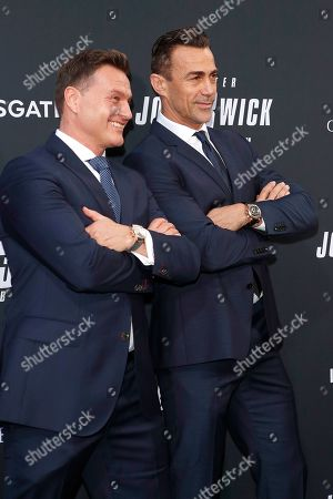 Stock Image of Sascha Moeri (L), CEO of Carl F Bucherer, and Swiss actor and martial artist Daniel Bernhardt (R) arrivie for the premiere of Lionsgate's John Wick: Chapter 3 - Parabellum at the TCL Chinese Theatre IMAX in Hollywood, Los Angeles, California, USA, 15 May 2019. The movie opens in the US on 17 May 2019.
