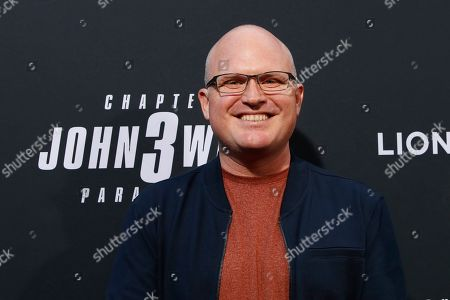 Derek Kolstad arrivies for the premiere of Lionsgate's John Wick: Chapter 3 - Parabellum at the TCL Chinese Theatre IMAX in Hollywood, Los Angeles, California, USA, 15 May 2019. The movie opens in the US on 17 May 2019.