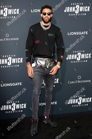 American professional basketball player for the Los Angeles Lakers JaVale McGee arrivies for the premiere of Lionsgate's John Wick: Chapter 3 - Parabellum at the TCL Chinese Theatre IMAX in Hollywood, Los Angeles, California, USA, 15 May 2019. The movie opens in the US on 17 May 2019.