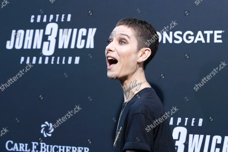 Stock Picture of Asia Kate Dillon arrivies for the premiere of Lionsgate's John Wick: Chapter 3 - Parabellum at the TCL Chinese Theatre IMAX in Hollywood, Los Angeles, California, USA, 15 May 2019. The movie opens in the US on 17 May 2019.