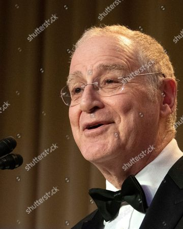 Stock Picture of Historian and author Ron Chernow, the keynote speaker, delivers his remarks