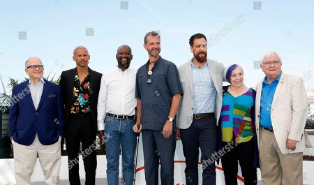 US TV reporter Hank Plante, Australian actor Keiynan Lonsdale, US Steve Williams, US nurse Guy Vandenberg, US director Dan Krauss, US nurse Alison Moed and US nurse Cliff Morrison pose during the photocall for '5BX' at the 72nd annual Cannes Film Festival, in Cannes, France, 16 May 2019. The movie is presented in the section Special Screenings of the festival which runs from 14 to 25 May.