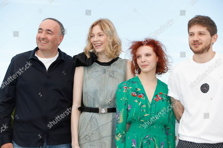 Russian producer Alexandr Rodnyansky, Russian actress Victoria Miroshnichenko, Russian actress Vasilisa Perelygina and Russian director Kantemir Balagov pose during the photocall for 'Beanpole' at the 72nd annual Cannes Film Festival, in Cannes, France, XX May 2019. The movie is presented in the section Un Certain Regard of the festival which runs from 14 to 25 May.