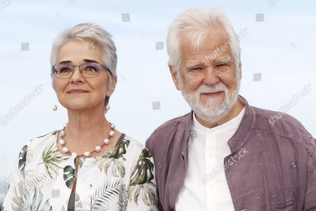 Germano-US producer Jan Harlan (R) and Christiane Kubrick's daughter, Katharina Kubrick (L) pose during the photocall for 'The Shining' at the 72nd annual Cannes Film Festival, in Cannes, France, 16 May 2019. The movie is presented in the section Cannes Classics of the festival which runs from 14 to 25 May.