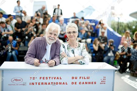 Christiane Kubrick's daughter, German Katharina Kubrick (R) and US-German producer Jan Harlan (L) pose during the photocall for 'The Shining' at the 72nd annual Cannes Film Festival, in Cannes, France, 16 May 2019. The movie is presented in the section Cannes Classics of the festival which runs from 14 to 25 May.