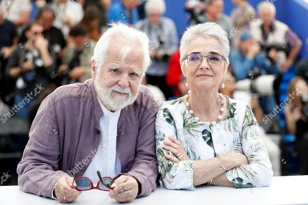 Christiane Kubrick's daughter, Katharina Kubrick (R) and US-German producer Jan Harlan (L) pose during the photocall for 'The Shining' at the 72nd annual Cannes Film Festival, in Cannes, France, 16 May 2019. The movie is presented in the section Cannes Classics of the festival which runs from 14 to 25 May.
