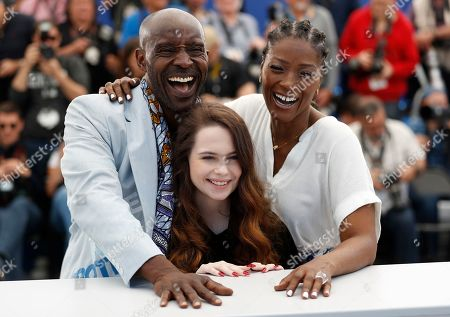 Rob Morgan, US actress Amber Havard and US actress Yolonda Ross pose during the photocall for 'Bull' at the 72nd annual Cannes Film Festival, in Cannes, France, 16 May 2019. The movie is presented in the section Un Certain Regard of the festival which runs from 14 to 25 May.