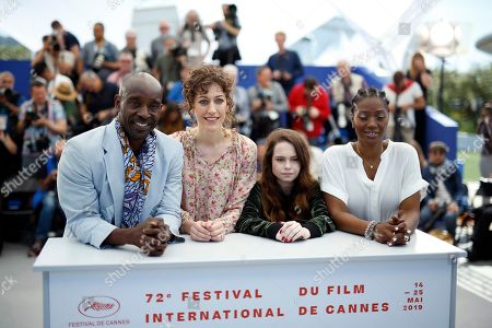 Rob Morgan, US director Annie Silverstein, US actress Amber Havard and US actress Yolonda Ross pose during the photocall for 'Bull' at the 72nd annual Cannes Film Festival, in Cannes, France, 16 May 2019. The movie is presented in the section Un Certain Regard of the festival which runs from 14 to 25 May.