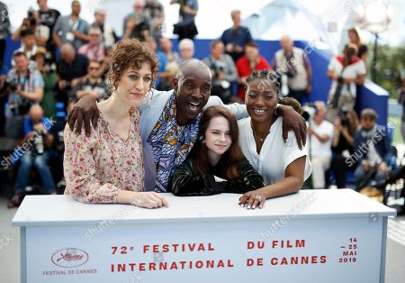 US director Annie Silverstein, US actor Rob Morgan, US actress Amber Havard and US actress Yolonda Ross pose during the photocall for 'Bull' at the 72nd annual Cannes Film Festival, in Cannes, France, 16 May 2019. The movie is presented in the section Un Certain Regard of the festival which runs from 14 to 25 May.