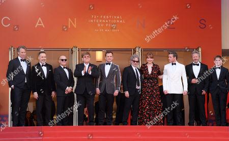 Giles Martin, David Furnish, Bernie Taupin, Sir Elton John, Taron Egerton, Director Dexter Fletcher, Bryce Dallas Howard, Richard Madden, Adam Bohling and Kit Connor