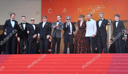 Giles Martin, David Furnish, Bernie Taupin, Sir Elton John, Taron Egerton, Director Dexter Fletcher, Bryce Dallas Howard, Richard Madden and Kit Connor