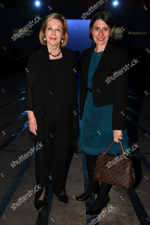 Stock Picture of ABC Chair Ita Buttrose (L) and NSW Premier Gladys Berejiklian attend the Carla Zampatti show during Mercedes-Benz Fashion Week Australia in Sydney, Australia, 16 May 2019. The fashion event runs from 12 to 17 May.