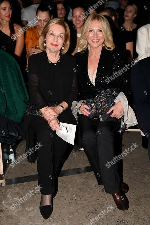 ABC Chair Ita Buttrose (L) and Australian television presenter Kerri-Anne Kennerley attend the Carla Zampatti show during Mercedes-Benz Fashion Week Australia in Sydney, Australia, 16 May 2019. The fashion event runs from 12 to 17 May.