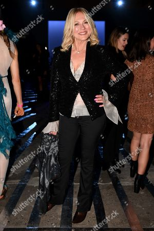 Australian television presenter Kerri-Anne Kennerley attends the Carla Zampatti show during Mercedes-Benz Fashion Week Australia in Sydney, Australia, 16 May 2019. The fashion event runs from 12 to 17 May.