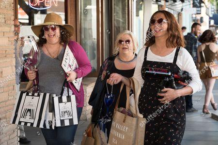 Emily Spivey as Jenny, Paula Pell as Val and Maya Rudolph as Naomi