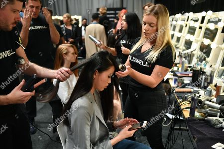 Models are preparing backstage ahead of the Carla Zampatti show during Mercedes-Benz Fashion Week Australia in Sydney, Australia, 16 May 2019. The fashion event runs from 12 to 17 May.