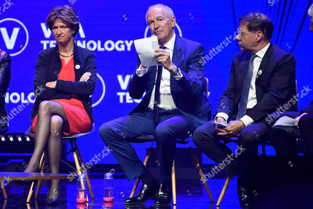 CEO of Engie SA Isabelle Kocher, CEO of L'Oreal SA Jean-Paul Agon attend the Vivatech startups and innovation fair, in Paris, France, 16 May 2019. Acording to organizers, VivaTech is the 'world's rendezvous for startups and leaders to celebrate innovation'. It aims to gather the world's brightest minds, talents, and products taking place in Paris on 16 to 18 May 2019.