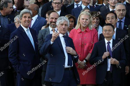 John Kerry, Maurice Levy, Ginni Rometty, Jack Ma, Emmanuel Macron