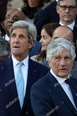 Stock Photo of John Kerry, Maurice Levy