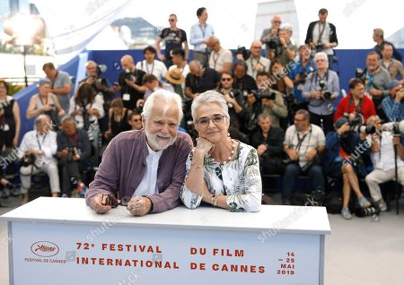 Jan Harlan, Katharina Kubrick. Producer Jan Harlan, left, and Katharina Kubrick pose for photographers at the photo call for the film 'The Shining' at the 72nd international film festival, Cannes, southern France