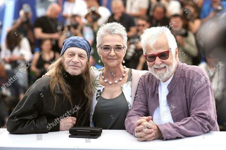 Leon Vitali, Katharina Kubrick, Jan Harlan. Actor Leon Vitali, from left, Katharina Kubrick and producer Jan Harlan pose for photographers at the photo call for the film 'The Shining' at the 72nd international film festival, Cannes, southern France