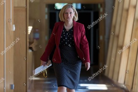 Stock Picture of Scottish Parliament First Minister's Questions - Gillian Martin makes her way to the Debating Chamber