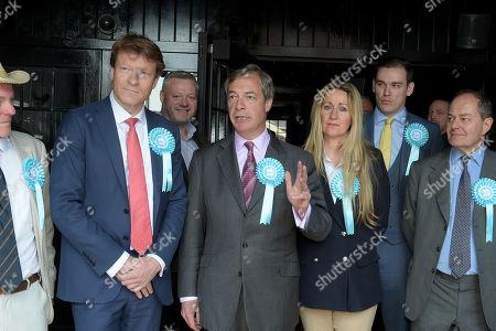 Edmund Fordham, Richard Tice, Mick Norcross, Nigel Farage, June Mummery, Michael Heaver and Paul Hearn