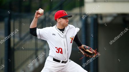 Seth Nichols throws the ball during an Old Dominion at Virginia Military Institute NCAA baseball game on in Lexington, Va