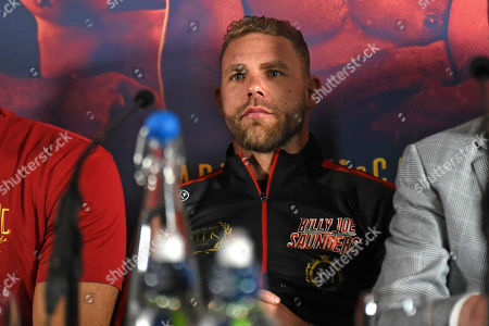 Billy Joe Saunders during a Press Conference at Knebworth House on 16th May 2019