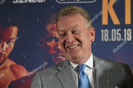 Frank Warren during a Press Conference at Knebworth House on 16th May 2019