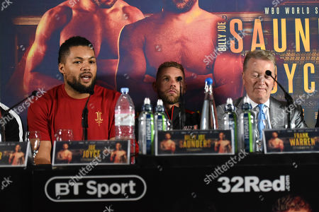 Joe Joyce (L) during a Press Conference at Knebworth House on 16th May 2019