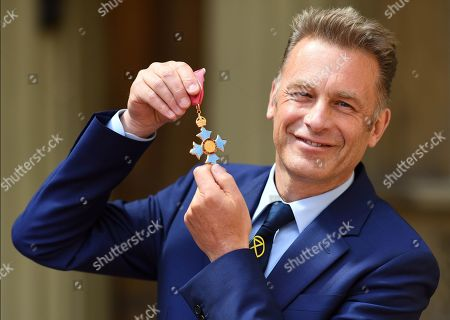 Chris Packham after receiving his CBE