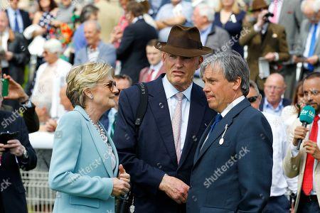 Lady Lloyd Webber, John Gosden and Simon Marsh at York.