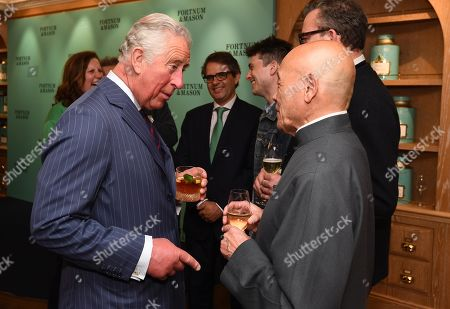Prince Charles speaks with Ken Hom