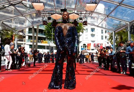 Kiddy Smile arrives for the screening of 'Atlantics' (Atlantique) during the 72nd annual Cannes Film Festival, in Cannes, France, 16 May 2019. The movie is presented in the Official Competition of the festival which runs from 14 to 25 May.