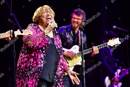 Stock Picture of Mavis Staples and Luther Dickinson of North Mississippi Allstars