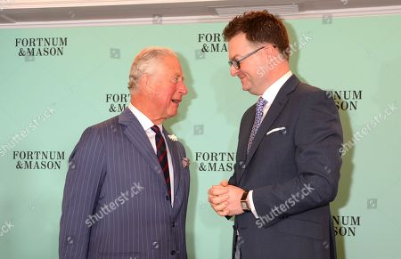 Prince Charles, Prince Charles and Ewan Venters attend the Fortnum & Mason Food and Drink Awards at the Diamond Jubilee Tea Salon in the Piccadilly flagship store.
