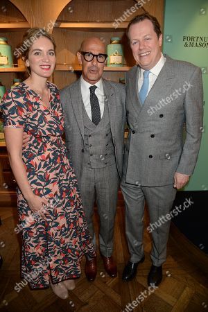 Felicity Blunt, Stanley Tucci, Tom Parker Bowles