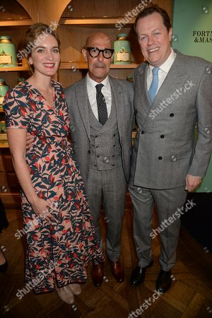 Stock Picture of Felicity Blunt, Stanley Tucci, Tom Parker Bowles