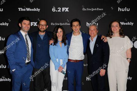 Stock Image of Jake Silverstein, Ken Druckerman, Meredith Levien, Sam Dolnick, Rick Rosen and Stephanie Preiss